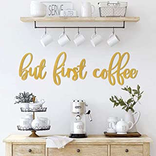 Huray Rayho Party But First Coffee Wall Word Sign Coffee Bar Wall Decor Coffee Station Letter Sign Farmhouse Kitchen Home ...