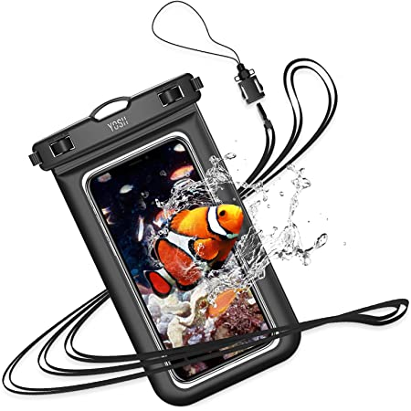 """YOSH IPX8 Waterproof Phone Case, Underwater Phone Pouch Dry Bag with Lanyard for Swimming Snorkeling Raining Dustproof for iPhone 12 11 XS max XS XR X 8 Samsung S20 S10 HUAWEI Xiaomi etc. up to 6.8"""""""