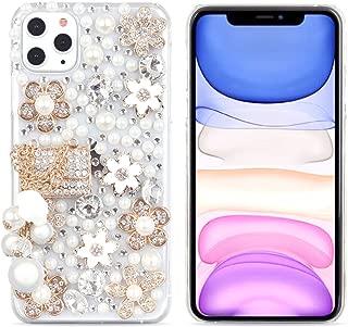 iPhone 6s Plus Women Case, iPhone 6 Plus Case, DMaos Handbag Design Sparkly Rhinestone Cover, Cute Girly Bling Diamond Snow Flower, Premium for iPhone 6+ 6s+ 5.5 inch
