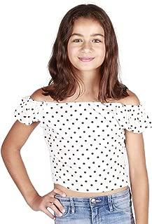 lori&jane Off Shoulder Short Sleeve Shirt Blouses Tops