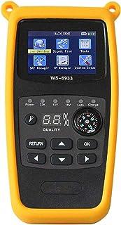 ZHITING-WS-6933 DVB-S2 FTA C&KU Band Digital Satellite Meter Finder con brújula