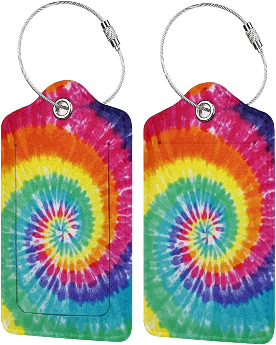 Set of 2 Luggage Tag Columbus Mall with Our shop most popular Full Privacy ID Name Back Stainle Card