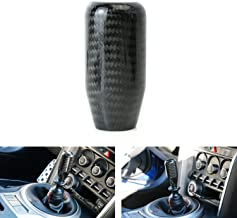 iJDMTOY Glossy Black Real Carbon Fiber Shift Knob for Most Car 6-Speed, 5-Speed, 4-Speed Manual or Automatic, etc