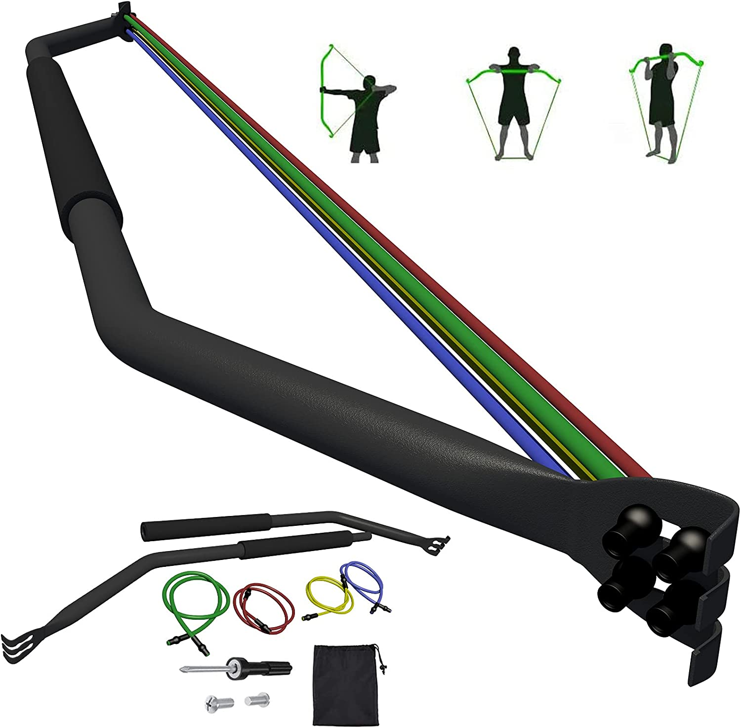 Portable 100% quality warranty Bow Resistance Bands Fitness Great interest Set Bands Eq
