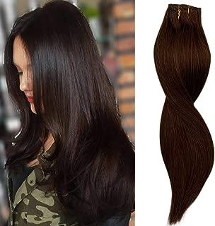 clip in hair extensions medium brown