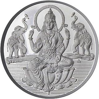 Goddess Lakshmi Coin In Pure Silver 999 Religious Coin 50 Grams