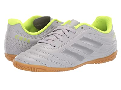 adidas Kids Copa 20.4 IN Soccer (Little Kid/Big Kid) (Grey Matte/Silver/Solar Yellow) Kids Shoes