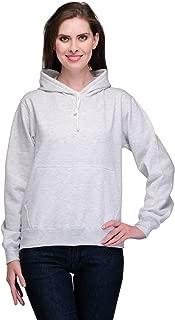 Scott Women's Premium Cotton Pullover Hoodie Sweatshirt - White Melange