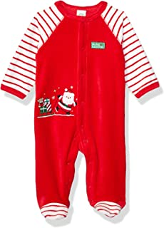 Little Me Baby Boy's Holiday Velour Footies Pants