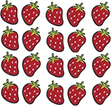 Monland Strawberry Embroidered Sew Iron on Patch for Clothes/Hat/Jackets/T-Shirt/Jeans/Backpacks (20Pcs)