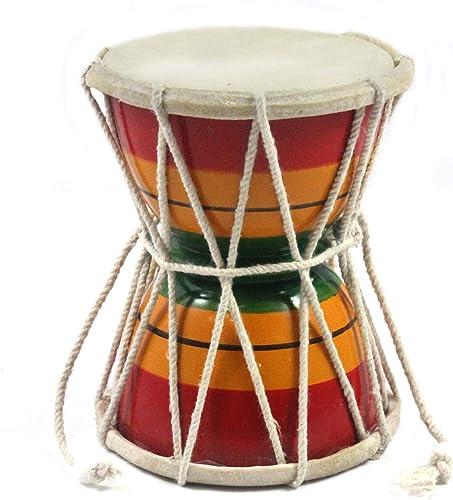 Adowik Handmade Shiv Damru Damroo Musical Instrument 4 Inch Pack of 1 pc