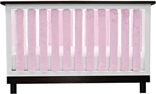 Pure Safety Vertical Crib Liners in Luxurious Pink Minky 38 Pack