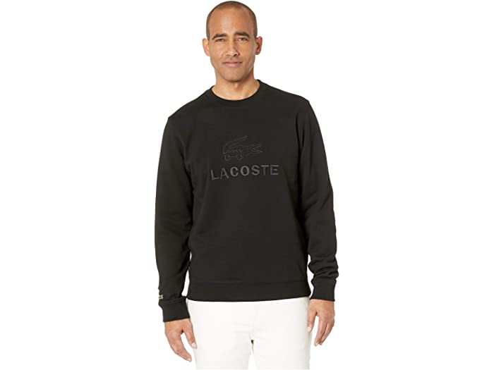 Lacoste Mens Long Sleeve Graphic Brushed Fleece Jersey