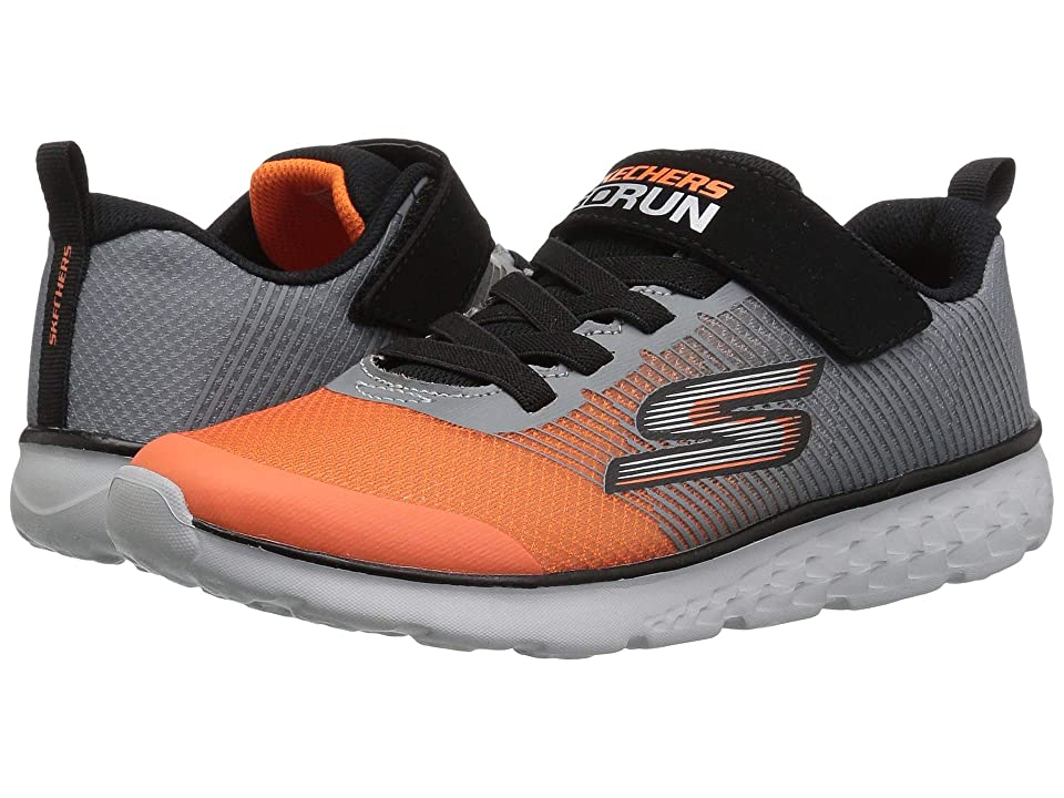 SKECHERS KIDS Go Run 400 (Little Kid/Big Kid) (Grey/Orange) Boy