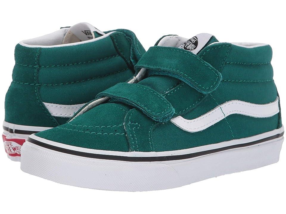 Vans Kids SK8-Mid Reissue V (Little Kid/Big Kid) (Quetzal Green/True White) Boys Shoes