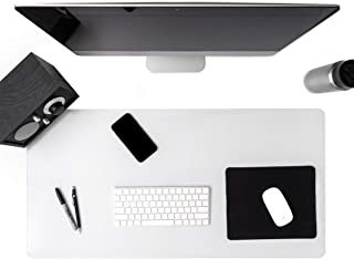 Awnour Clear Desk Pad Blotter on Top of Desks - 36 x 20 inches - Non Slip Desk Writing Mat for Office and Home - Round Edg...