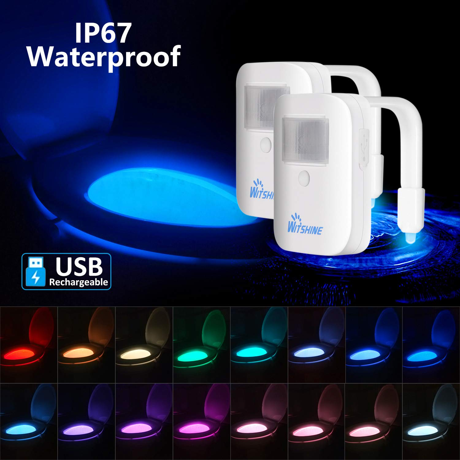 Rechargeable 16 Color Waterproof Detection Lasting