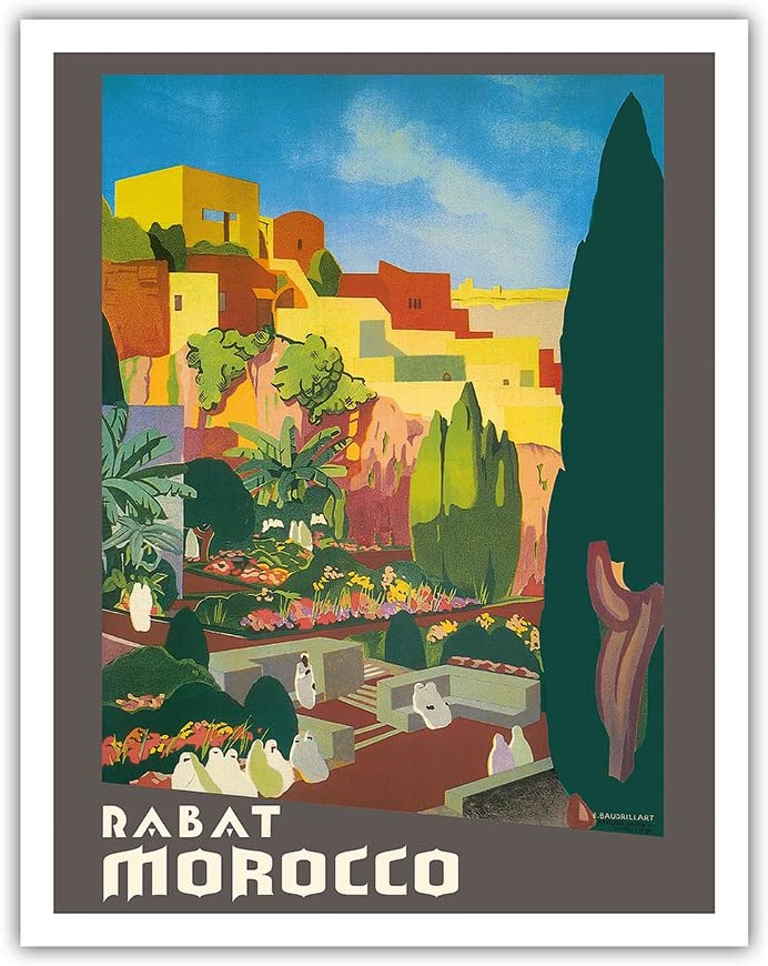 Tanger Tangier Morocco Arabic Girl Flowers Travel  Vintage Poster Repro FREE S//H