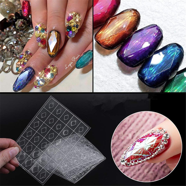 縫い目しなやかなアルミニウム貼るだけでいい 3D宝石のステッカー プラスチック製 4種から選べネイルシールネイルステッカー ジェルネイルやレジンに 埋め込み ネイルアート (1)