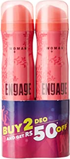 Engage Blush Deo Spray, 150ml / 165ml (Pack of 2) (Weight May Vary)