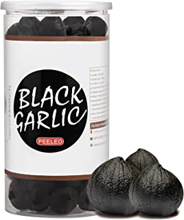 RioRand Black Garlic 908g / 2 Pounds Whole Peeled Black Garlic Aged for Full 90 Days Black Garlic Jar Equal to 4lbs of Who...