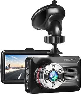 "TOGUARD Dash Cam 6 LEDs Night Vision Car Camera 1080P FHD DVR Dash Camera for Cars, 3"" Screen 170° Wide Angle, Parking Monitor, G-Sensor, WDR, Motion Detection"