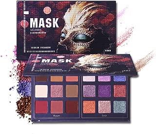 DONGXIUB Masquerade 18 Color Smoky Makeup Palette Matte Shimmer Long Lasting Metallic Eyeshadow