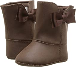 Soft Sole Shimmer Boot with Side Bow (Infant)