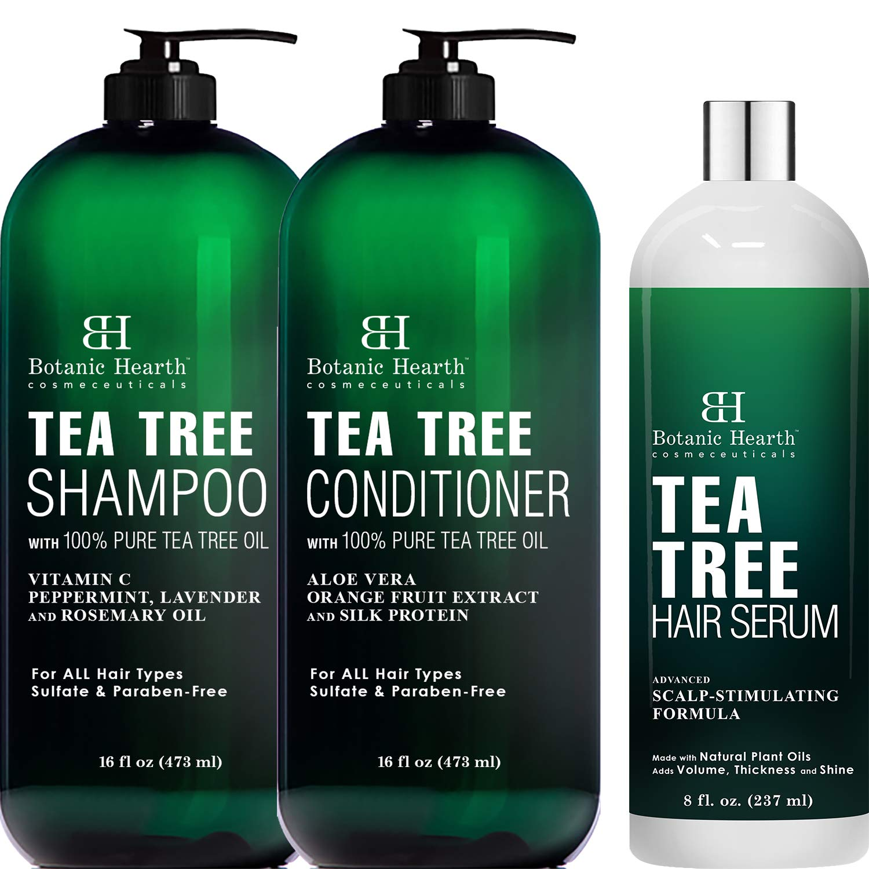 Botanic Hearth Tea Tree Shampoo Conditioner a OFFicial 16 oz each Large discharge sale Set