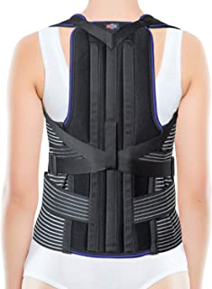 JNTAR Back Brace Posture Corrector for Women & Men, Provides Lumbar & Shoulders Support, Corset Corrects Slouching & Bad Posture, Kyphosis & Scoliosis, Rigid Fixation (2X-Large)