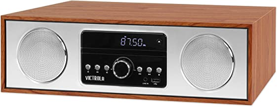 Victrola VS-120-MPL Bluetooth Microsystem with CD Player USB Aux-in and FM Radio Maple