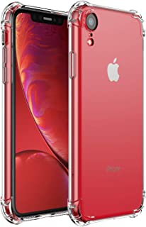 Compatible with iPhone XR Case,Comwinn Clear Anti-Scratch Shock Absorption Cover Case for iPhone XR (6.1 inch) Clear