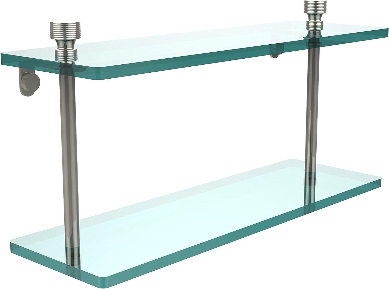 Allied Brass FT-2 16-PNI 16 by 5-Inch Double 3 8 Glass Shelf