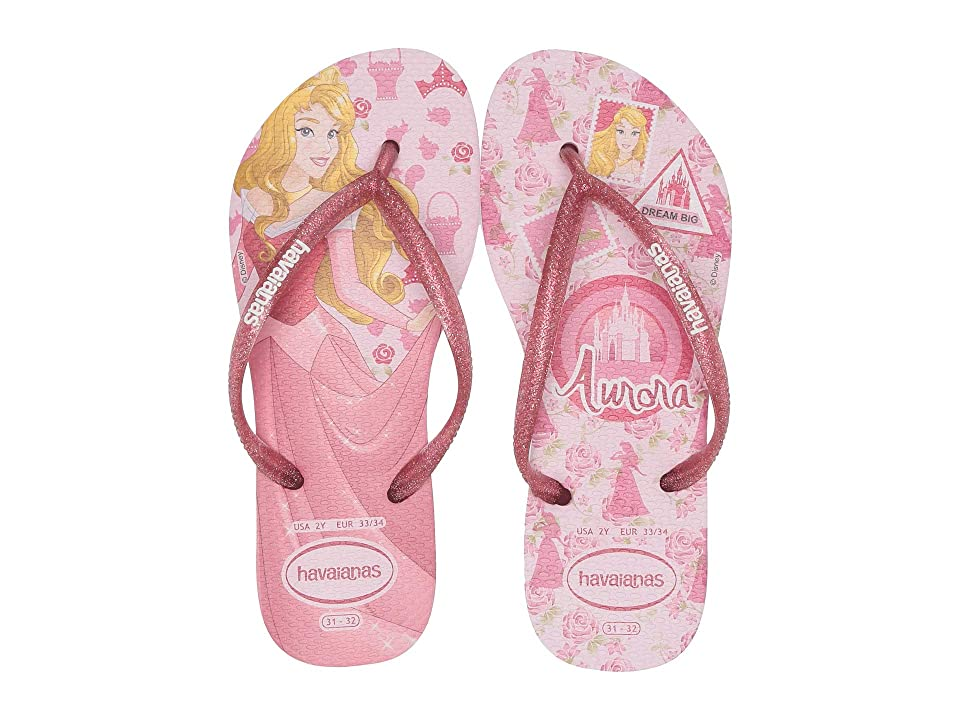 80c9ffa9f Havaianas Kids Slim Princess Flip Flops (Toddler Little Kid Big Kid) (