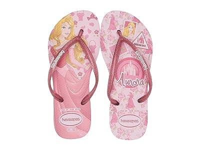 Havaianas Kids Slim Princess Flip Flops (Toddler/Little Kid/Big Kid) (Rose Quartz) Girls Shoes