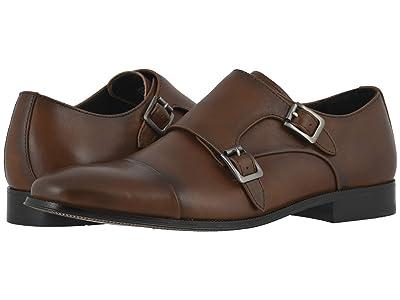 Florsheim Jetson Cap Toe Double Monk Strap (Cognac Smooth) Men