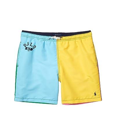 Polo Ralph Lauren Kids Traveler Swim Trunks (Big Kids) (Color-Block Multi) Boy