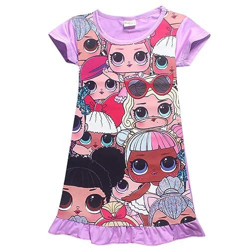 Vannie LOL Surprise Dolls Niña Vestido de Princesa Cosplay Skirt Mangas Cortas Vestido Princesa Falda Fiesta Carnaval Boda Cumpleaños Ceremonia Regalo para niñas y Hijas de 4 a 10 años