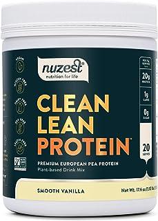 Nuzest Clean Lean Protein - Premium Vegan Protein Powder, Plant Protein Powder, European Golden Pea Protein, Dairy Free, G...