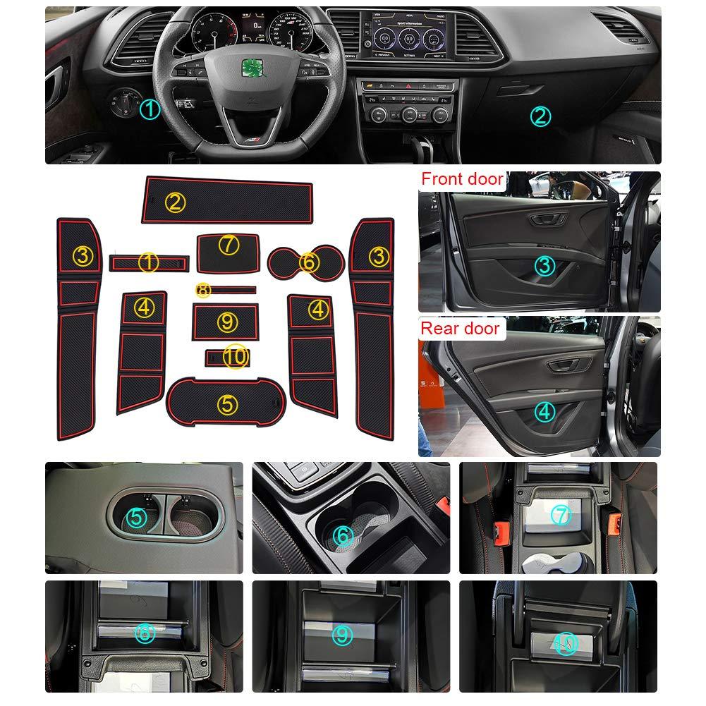 Amazon.es: Lfotpp - Alfombrillas de goma antideslizantes para coche, para soporte de bebidas, consola central, reposabrazos, ranura de puerta, 11 piezas