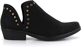 Women's Antonio Ankle Booties Split Shaft Everyday Vegan Leather Boot Pointed Toe