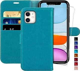 MONASAY Hoesje iPhone 12 Mini, Telefoonhoes voor iPhone 12 Mini, Lederen Flip Phone Cover Case met Kaarthouder, Magnetisch...