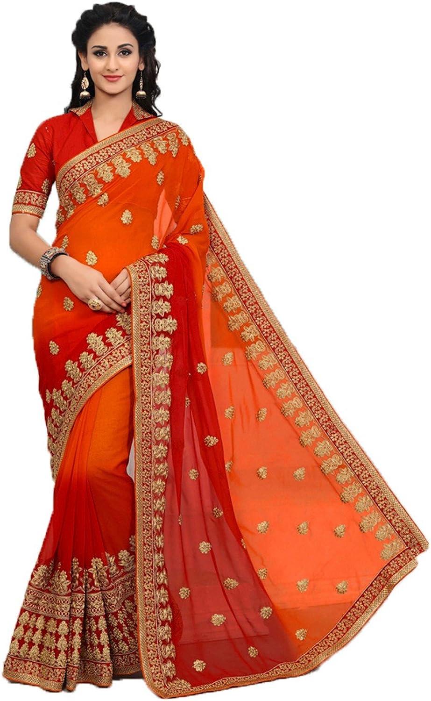 DaindiashopUSA Indian Sarees for Women Partywear Ethnic Traditional Designer Sari