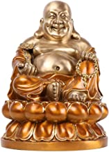 Happy Laughing Buddha Statue Chinese Feng Shui Buddhism Sit Buddha Collectable Sculpture,Wealth Lucky Home Decoration Gift