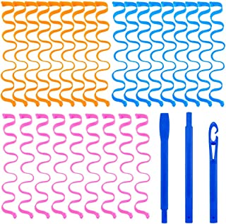 Wave Hair Rollers 27 PCS 50cm Water Ripple Curler Magic Diy Hair Rollers Curl Spiral Ringlets Rollers For DIY