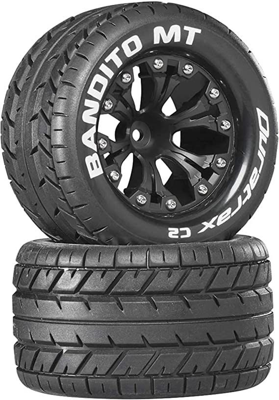 2 Duratrax C3504 Bandito MT 2.8 inch Truck Mounted 1//2 inch Offset C2 Black