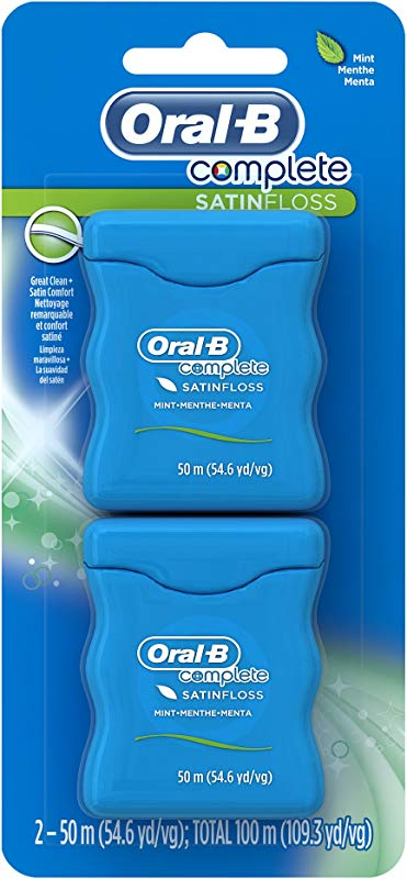 Oral B Complete Satin Dental Floss Mint 50m Twin Pack
