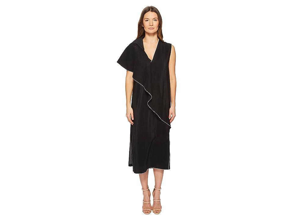 Sportmax Mandare Ruffle Front Dress (Black) Women