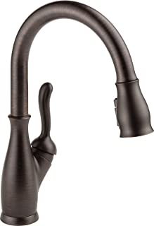 Delta Faucet Leland Single-Handle Kitchen Sink Faucet with Pull Down Sprayer, ShieldSpray Technology and Magnetic Docking ...