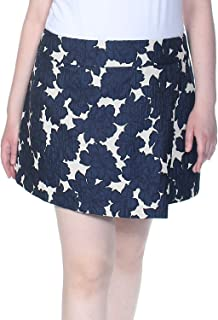 Maison Jules Floral-Print A-Line Skirt